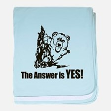 The Answer is Yes baby blanket