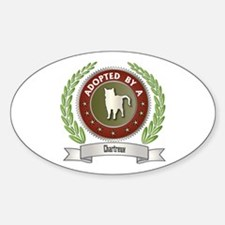 Adopted By Chartreux Oval Decal