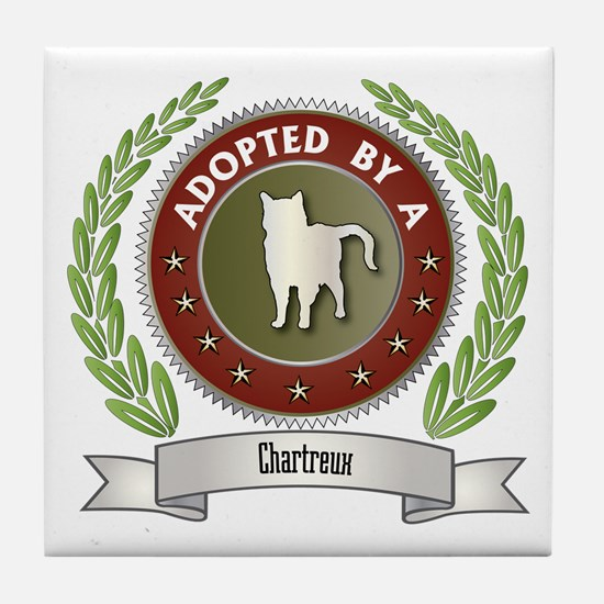 Adopted By Chartreux Tile Coaster