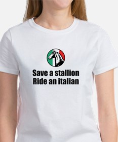 Save a Stallion Ride an Itali Women's T-Shirt