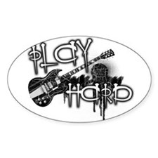 Play Hard!! Oval Decal