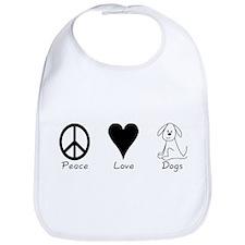 Peace Love Dogs Bib