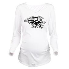 Cuttlefish Sigil Long Sleeve Maternity T-Shirt