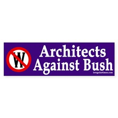 Architects Against Bush (bumper sticker)