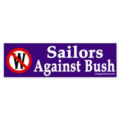 Sailors Against Bush (bumper sticker)