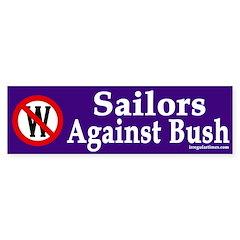 Sailors Against Bush (bumper sticker)