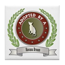 Adopted By Havana Tile Coaster
