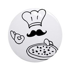 pizza chef Round Ornament