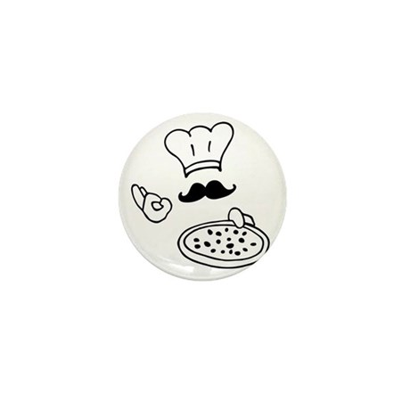 pizza chef Mini Button