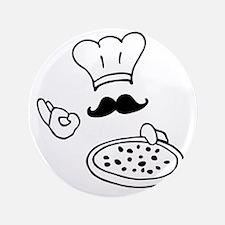 """pizza chef 3.5"""" Button"""