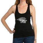 White Cuttlefish Racerback Tank Top