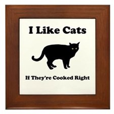 Cat Cooked Right Framed Tile