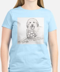 Great Pyrenees Puppy Ball, Women's Pink T-Shirt