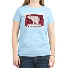 I Love My Couchpotato Women's T-Shirt,light color
