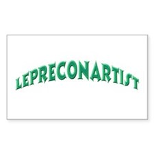 Lepreconartist St. Patrick's Day Sticker (Rectangu