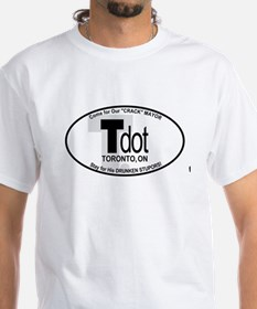 Toronto Tdot Car Oval Crack Mayor T-Shirt