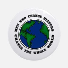 Men Who Change Diapers Ornament (Round)