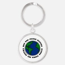 Men Who Change Diapers Round Keychain