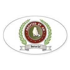 Adopted By Curl Oval Decal