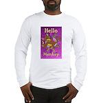 HelloMonkey-TallPrint Long Sleeve T-Shirt