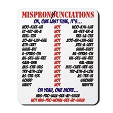 Mispronounciated Mousepad