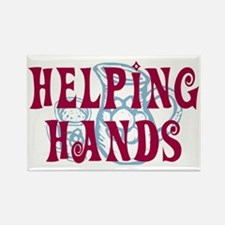 Helping Hands Rectangle Magnet