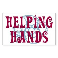 Helping Hands Rectangle Decal