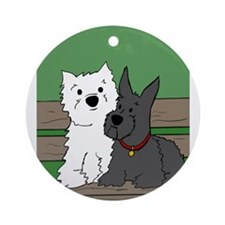 Westie and Scottie Ornament (Round)