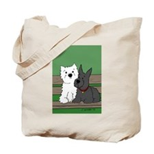 Westie and Scottie Tote Bag