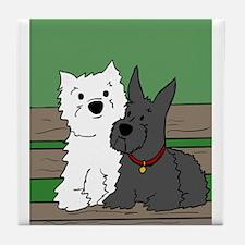 Westie and Scottie Tile Coaster