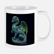 Emerald Peacock Secret Keeper Mug front and