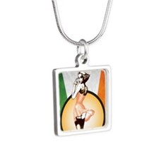 SAINT PATS AD (G) Silver Square Necklace