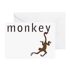monkey34 Greeting Card