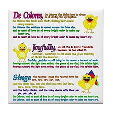 decolores song Tile Coaster
