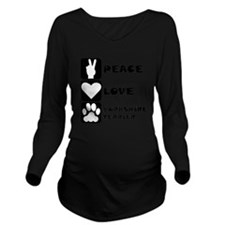 Peace Love Yorkshire Terrier Long Sleeve Maternity