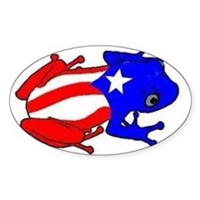 Puerto Rico Coqui Oval Decal