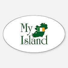 My Island Oval Decal