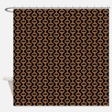 Brown And Black Retro Pattern Shower Curtain