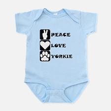 Peace Love Yorkie Body Suit