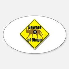 Beware of Dingo! Oval Decal