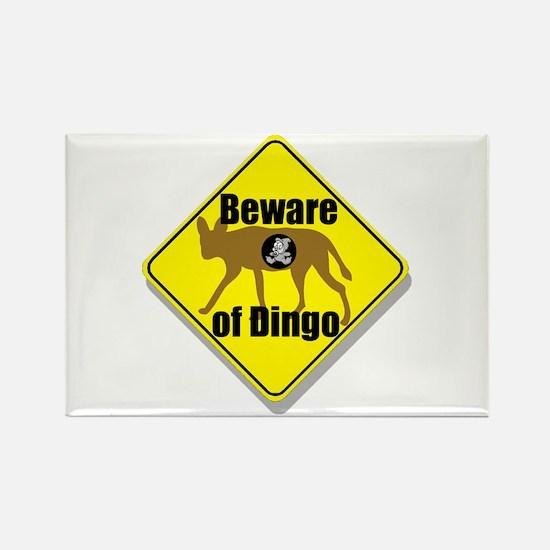 Beware of Dingo! Rectangle Magnet