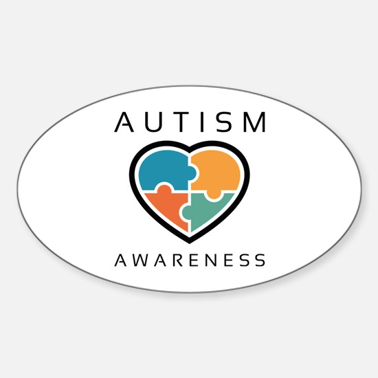 Autism Awareness Sticker (Oval)
