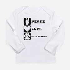 Peace Love Weimaraner Long Sleeve T-Shirt