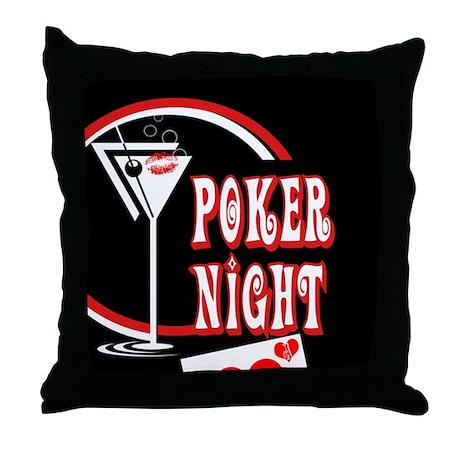 Poker Night Throw Pillow