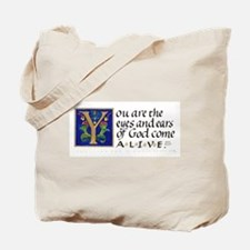 Eyes And Ears Of God Tote Bag