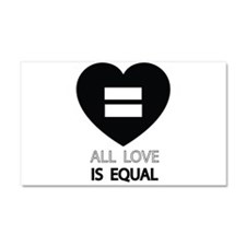All Love Is Equal Car Magnet 20 x 12