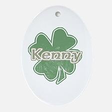 """Shamrock - Kenny"" Oval Ornament"