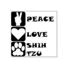 Peace Love Shih Tzu Sticker