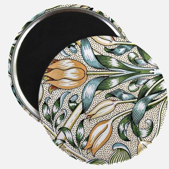 William Morris vintage design: Lily and Pom Magnet