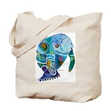 Manatees Endangered Species Tote Bag